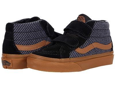 Vans Kids SK8-Mid Reissue V (Little Kid) ((Suiting) Black/Gum) Boys Shoes