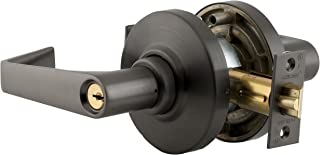 Schlage AL53PD SAT 613 11-096 10-025 C123 Cylindrical Lock, Entrance Function, C123 Keyway, Saturn Lever with Rose, Oil Rubbed Bronze Finish