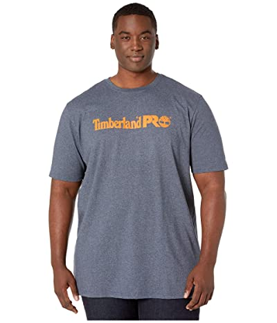 Timberland PRO Base Plate Short Sleeve T-Shirt with Logo Tall (Navy Heather) Men