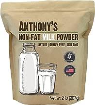 Anthony's Non Fat Milk Powder, 2lbs, Instant, Gluten Free & Non GMO