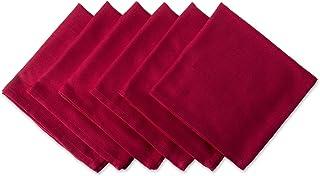 DII 100% Cotton, Oversized Basic Everyday 20x 20 Napkin, Set of 6, Variegated Tango Red