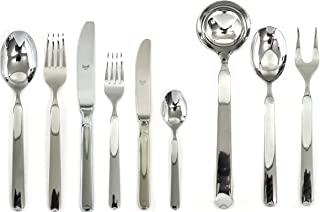 Mepra 102422039 Flatware Set, [39 Piece, Metallic Finish, Dishwasher Safe Cutlery