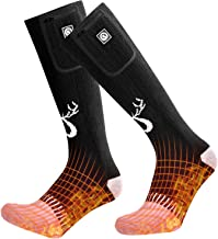 SNOW DEER Upgraded Heated Socks,Electric Rechargeable Battery Heating Socks for Men Women,Winter Ski Hunting Camping Hiking Riding Motorcycle Warm Cotton Socks Foot Warmer
