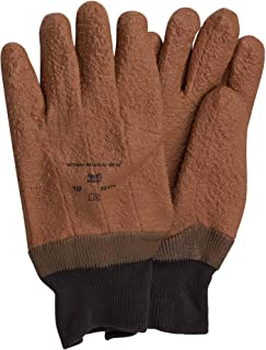 Ansell Winter Monkey Grip Fully Vinyl Coated Jersey Gloves, Size 10, 12 Pairs