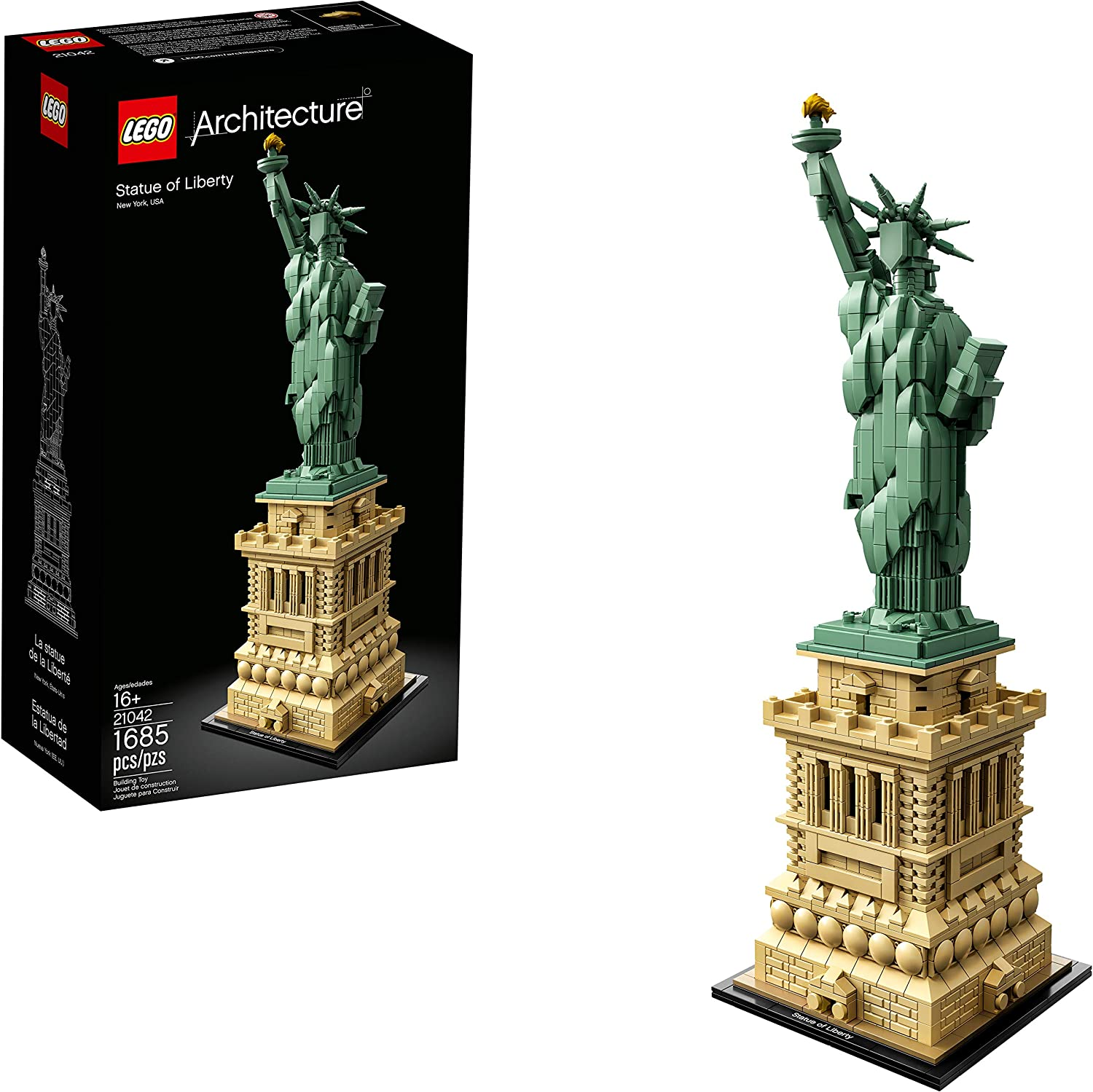 LEGO Architecture Statue of Liberty Kit Pie Deluxe Building 21042 1685 Ranking TOP20