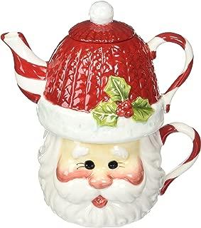 Cosmos Gifts 10639 Santa Tea for 1 Tea Set, 6-1/4-Inch
