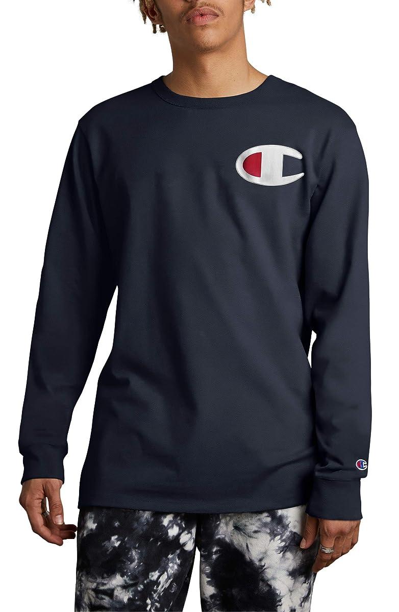 シダサーバ漏斗[チャンピオン] メンズ シャツ Champion Heritage Patch T-Shirt [並行輸入品]