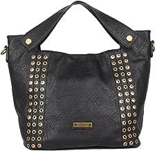 نيكي حقيبة تحمل من الاعلى للنساء - اسود - حقائب بتصميم الاحزمة
