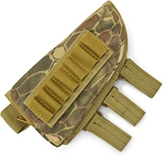 Rifle Stock Pack, Cheek Pad / Buttstock Ammo Holder Pouch, Tactical Buttstock Shotgun Rifle Shell Holder Cheek Rest Pouch (Mountain camouflage)
