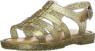 Mini Melissa Girls Flox Sandal, Gold/Spark, 8 Regular US Toddler