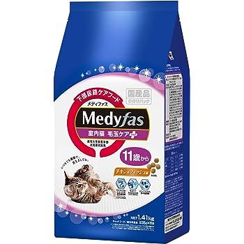 メディファス 室内猫 毛玉ケアプラス 11歳から チキン&フィッシュ味 1.41kg(235gx6)
