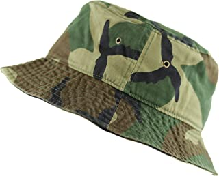 d455744b THE HAT DEPOT 300N Unisex 100% Cotton Packable Summer Travel Bucket Beach  Sun Hat