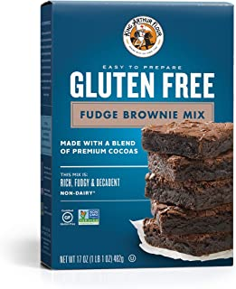 KING ARTHUR FLOUR, Fudge Brownie Mix, Gluten Free, 17 Ounce (Pack of 6)