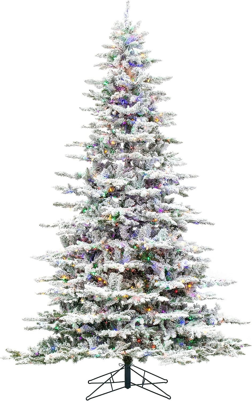 Vickerman 9' Flocked Overseas parallel import regular item Utica Fir Multi- Artificial Popular standard Tree Christmas