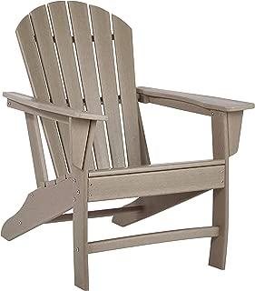 Ashley Furniture Signature Design - Sundown Treasure Outdoor Adirondack Chair - Hard Plastic - Grayish Brown