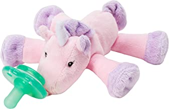 Nookums Paci-Plushies Shakies - Unicorn Pacifier Holder and Rattle (2 in 1)- Adapts to Name Brand Pacifiers, Suitable for All Ages, Plush Toy Includes Detachable Pacifier