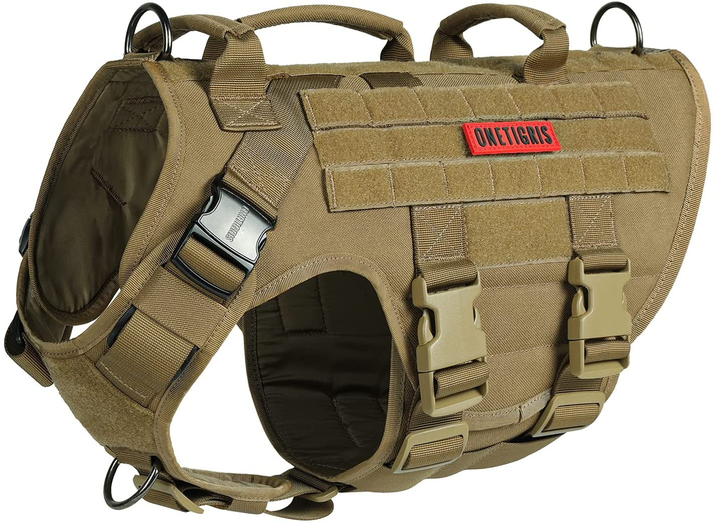 OneTigris Large Time sale Tactical Dog Harness Adjustable Pulling High quality No