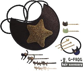 【GLASS FROG】可愛いねこちゃんのヘアアクセサリー 中身の見える福袋 ヘアゴム ヘアピン