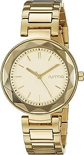 RumbaTime Women's 20229 Madison Gem Analog Display Japanese Quartz Gold Watch