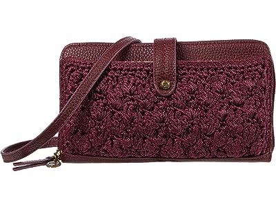The Sak Iris Crochet Smartphone Crossbody (Cabernet Malia Weave) Handbags