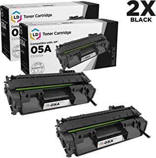 LD Compatible Toner Cartridge Replacements for HP 05A CE505A (Black, 2-Pack)