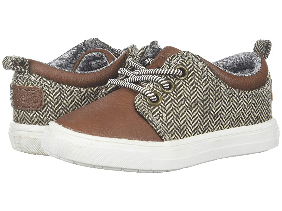 Carters Limeri 2 (Toddler/Little Kid) (Brown PU/Harringbone) Boy