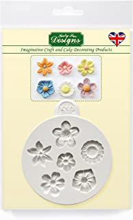 Katy Sue Designs Flowers Mold for Cake Decorating, Cupcakes, Sugarcraft, Candies, Clay, Crafts and Card Making, Food Safe