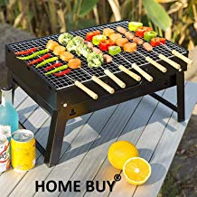 Home Buy Small Portable BBQ Briefcase Style Folding Barbecue Grill Toaster Barbeque