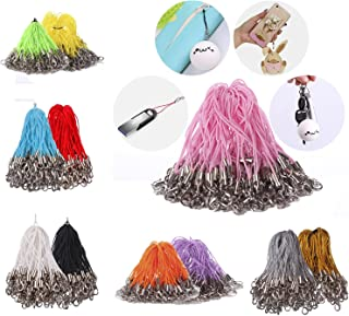 Mini-Factory 100 X Pcs Mix-Colors Mobile Cell Phone Cords Strap Lariat With Lobster Clasp for Cellphone/iPod/Mp3/Mp4/USB Flash Drive and More