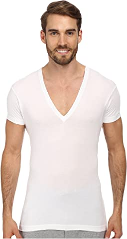 2(X)IST - Pima Slim Fit Deep V-Neck T-Shirt