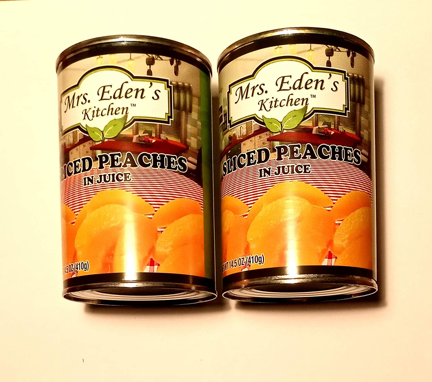 Mrs. Super popular specialty store Eden's Kitchen Sliced Peaches in each 14.5 2 Discount mail order oz Can Juice