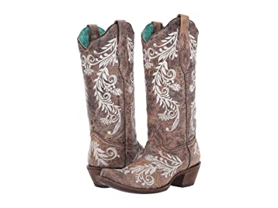 Corral Boots A3753 (Brown/White) Women
