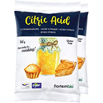 NortemBio Ácido Cítrico 1,15 Kg. Polvo Anhidro, 100% Puro. para ...