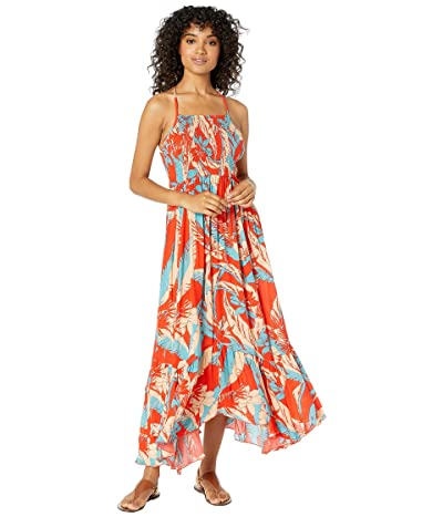 Free People Heat Wave Printed Maxi (Red) Women