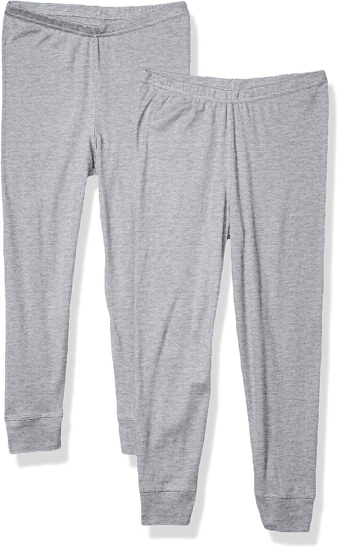 AquaGuard Girls Baby Rib Pajama Pant 2-Pack