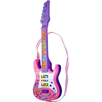 Toyshine Sunshine Gifting Music and Lights Guitar Toy, Big, Pink