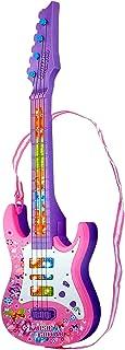 Toyshine Music and Lights Guitar Toy, Big, Pink