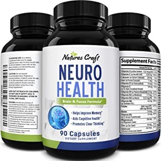 Natures Craft's Mind Enhancement Supplement Natural Nootropic Pills for Men and Women Boost Focus Clarity Improve Memory R...
