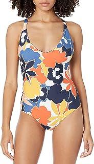 Seafolly Women's Standard DD V Neck Plunge One Piece Swimsuit, Sun Dancer Marina Blue, 8