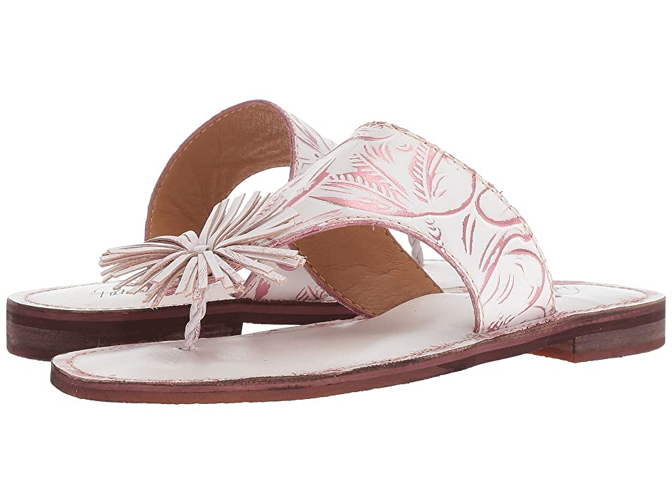 Patricia Nash Franca (White/Pink Leather) Women