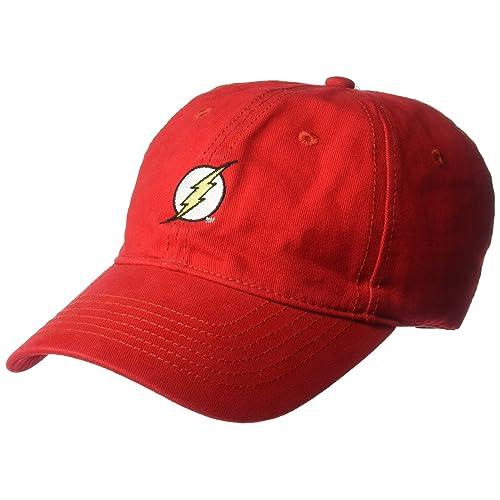 432c4046 DC Comics Men's Flash Faux Wool Baseball Cap