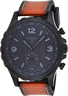 Fossil Mens Quartz Watch, Analog Display and Leather Strap FTW1114