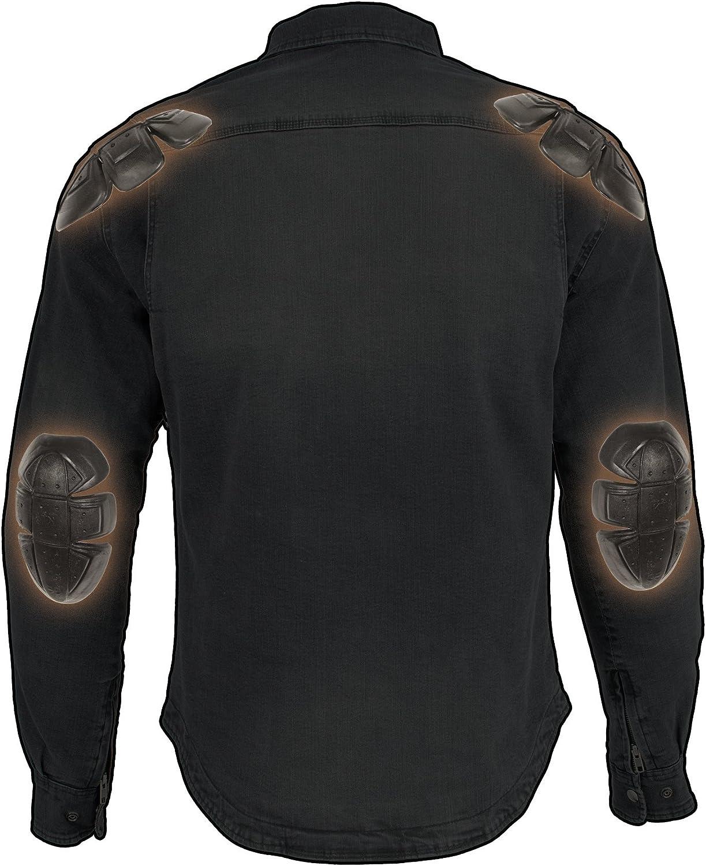 Milwaukee Performance-Mens Armored Denim Biker Shirt w//Aramid by DuPont Fibers-GREY1621-4X