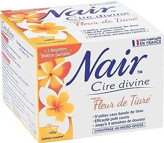 Nair Wax, divine, tiarébloem, effectief kort haar, professioneel resultaat, 400 g