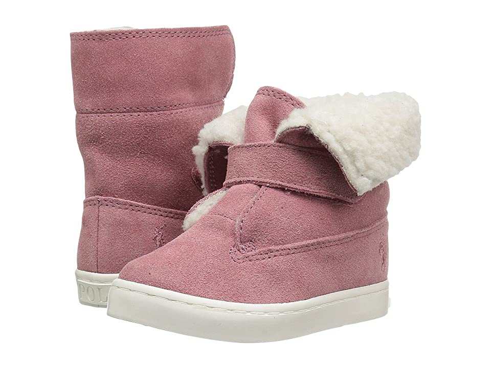 Polo Ralph Lauren Kids Siena Bootie (Toddler/Little Kid) (Pink Suede) Kid