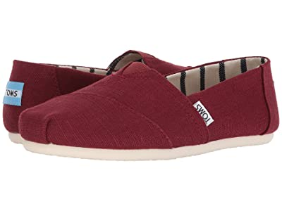 TOMS Venice Collection Alpargata (Black Cherry Heritage Canvas) Women