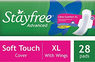Stayfree Advanced Ultra-Comfort Napkins with Wings - 28 Pads (Extra Large)