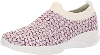 Skechers Performance Women's You-15806 Sneaker,white/pink,8 M US