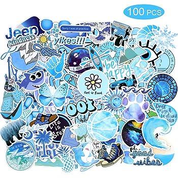 50 Pieces VSCO Stickers Cars Water Bottles Skateboard Auto Bike Sticker Vinyl Waterproof Cute Trendy Cool Decals Bulk Pack for Girls Teens Boys /& Kids