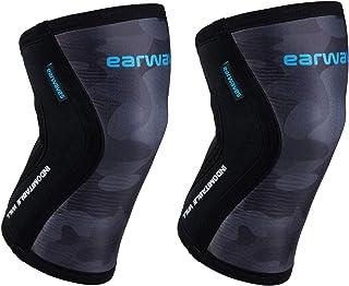 Earwaves ® Shield Knee Sleeves - Par de Rodilleras de Neopreno de 5mm & 7mm para Crossfit, Halterofilia, Powerlifting, Wei...